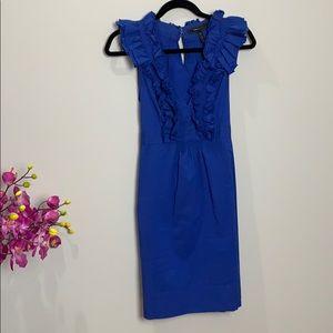 BCBGMaxazria royal blue cotton dress.